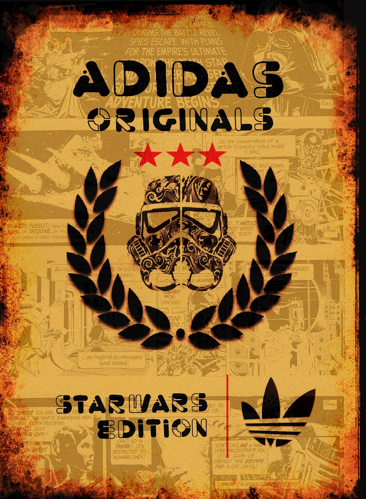 star wars posters  adidas