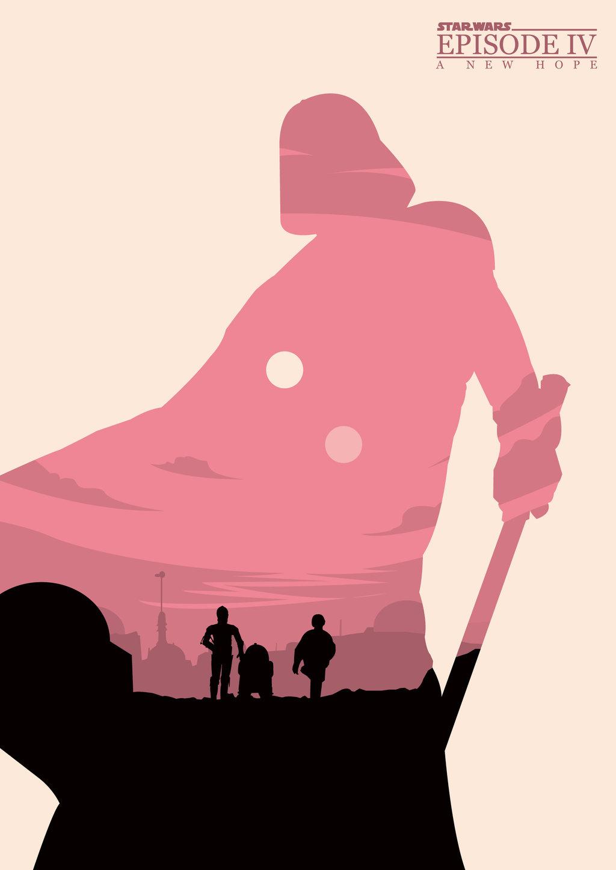star wars posters  movie redesigns